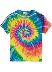 COLLINA STRADA Sporty Spice tie-dyed cotton T-shirt / psychedelic prints