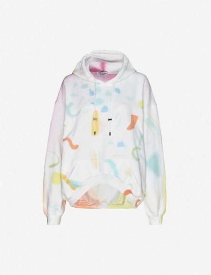 COLLINA STRADA Tie dye-print cotton-blend jersey hoody in Memphis / multi-coloured hoodies