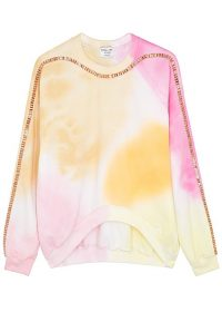 COLLINA STRADA X Charlie Engman Sporty Spice printed sweatshirt / crystal embellished pastel print sweat top