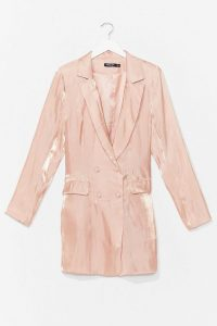 Cool Down Shimmer Blazer Dress