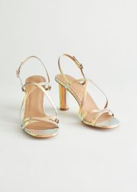 & other stories Cylinder Heel Strappy Leather Sandals Rainbow
