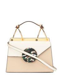DANSE LENTE Phoebe shoulder bag | small neutral colourblock handbags