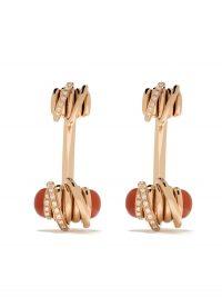DE GRISOGONO 18kt rose gold coil diamond studs