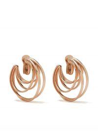 DE GRISOGONO 18kt rose gold coil hoops / multi hooped earrings