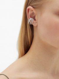 ANA KHOURI Delphine diamond & 18kt white-gold ear cuff ~ luxe ear cuffs
