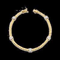 THE LAST LINE DIAMOND AND GOLD TENNIS LINK BRACELET | diamonds | beautiful contemporary bracelets