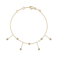 THE LAST LINE DIAMOND CHANDELIER ANKLET 14K YELLOW GOLD | luxe anklets