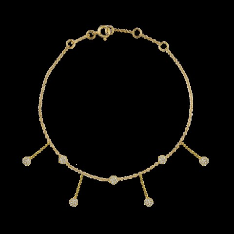 THE LAST LINE DIAMOND CHANDELIER ANKLET 14K YELLOW GOLD | luxe anklets - flipped
