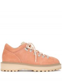 DIEMME Monfumo lace-up boots in peach-pink