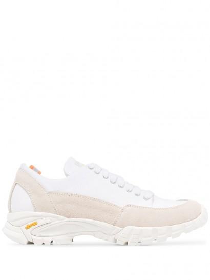 DIEMME Possagno low-top suede sneakers / colourblock trainers