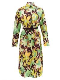 FENDI Dream Garden floral-print cotton shirt dress | vintage look prints
