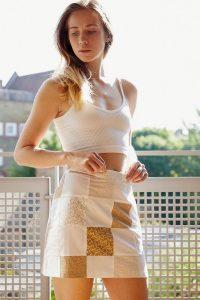 Urban Renewal Inspired By Vintage Patchwork Print Skirt – 70s look mini