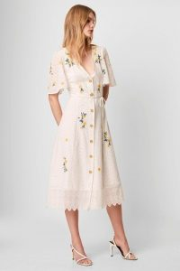 FRENCH CONNECTION EKA EMBROIDERED DRESS / floral summer dresses