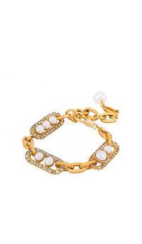 Elizabeth Cole Adalee Bracelet | faux pearl and crystal bracelets