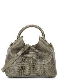ELLEME Baozi grey leather cross-body bag ~ small top handle bags