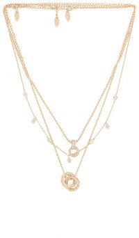Ettika Layered Pendant Necklace | triple chain necklaces