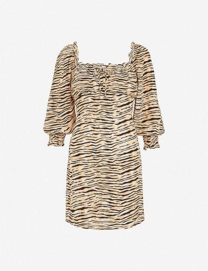 FAITHFULL THE BRAND Ira animal-print woven mini dress