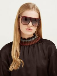 LOEWE Filipa flat-top acetate sunglasses | oversized sunnies