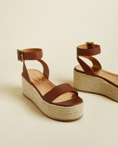 TED BAKER LENISA Flatform espadrille sandals light brown / summer essentials