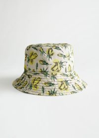& other stories Floral Bucket Hat Yellow Florals