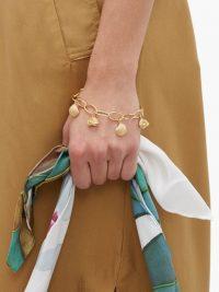 AURÉLIE BIDERMANN Fortaleza shell-charm 18kt gold-plated bracelet / seashell charms