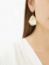 AURÉLIE BIDERMANN Françoise gold-plated mother-of-pearl earrings