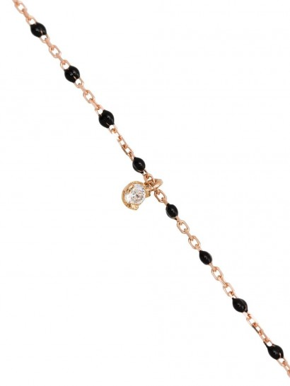 GIGI CLOZEAU 18kt rose gold beaded diamond necklace / small luxe pendant necklaces
