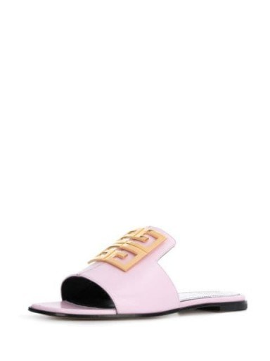 GIVENCHY 4G light pink leather sandals | chic luxe summer sandal - flipped