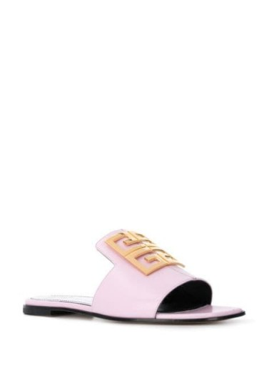 GIVENCHY 4G light pink leather sandals | chic luxe summer sandal