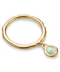 MONICA VINADER Siren Chrysoprase Charm Ring 18ct Gold Vermeil on Sterling Silver