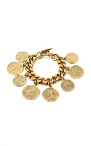 Ben-Amun Gold-Plated Bracelet / statement coin charm bracelets