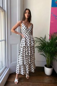 Happy You're Tier Polka Dot Maxi Dress / tiered dresses