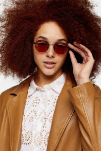 Topshop HENDRIX Orange Round Sunglasses | summer eyewear