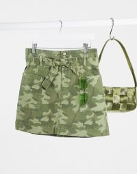 Hollister camo print cargo skirt in multi / camouflage mini