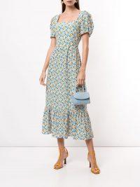 HVN Fromer floral-print dress | frill hem dresses