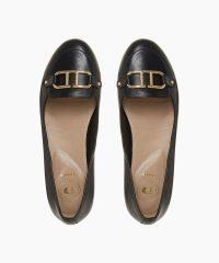 Dune Hylton Black Comfort Fit Ballerina Shoe