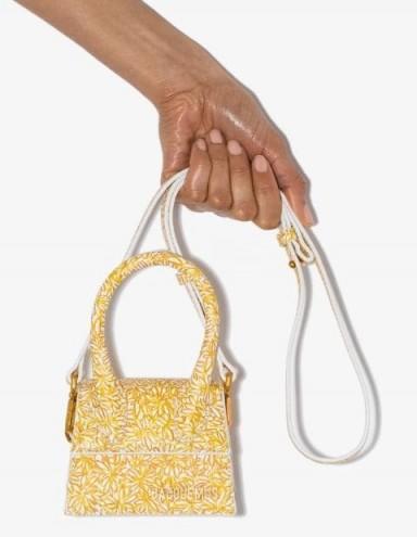 JACQUEMUS Le Chiquito floral mini bag / petite leather handbags
