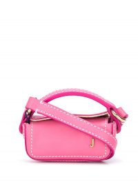 JACQUEMUS Piccola pink-leather mini bag / tiny crossbody
