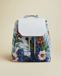 TED BAKER PASSHA Jamboree drawstring backpack / tropical print backpacks