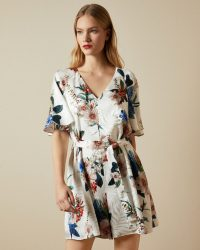 TED BAKER LYNNEA Jamboree playsuit / flower print playsuits