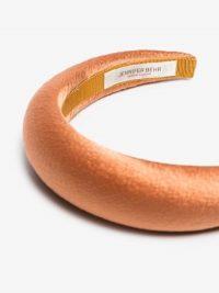 Jennifer Behr Orange Thada Silk Satin Headband / luxe style headbands