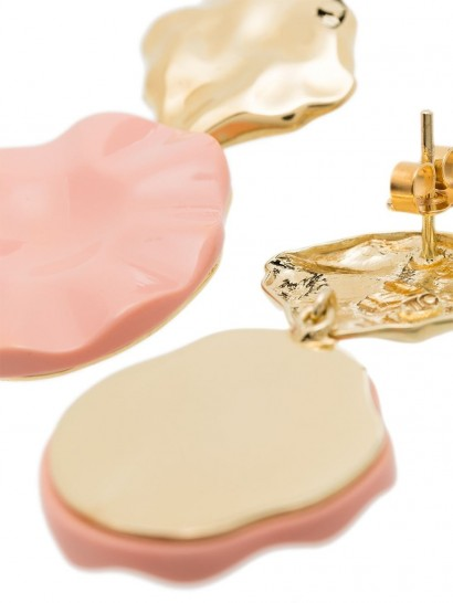 OANNA LAURA CONSTANTINE Feminine Waves drop earrings | pink and gold plated brass drops