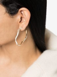 JOANNA LAURA CONSTANTINE Feminine Waves gold-plated hoop earrings | wavy crystal hoops