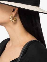 Joanna Laura Constantine Gold-Plated Feminine Waves Hoop Earrings / glamorous chunky hoops