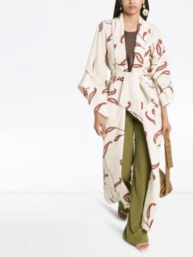 JOHANNA ORTIZ Soul Quest printed kimono | longline floaty jacket - flipped