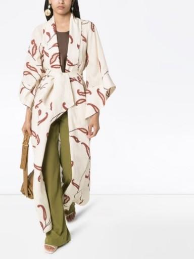 JOHANNA ORTIZ Soul Quest printed kimono | longline floaty jacket