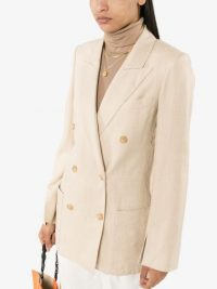 JOSEPH Jean double-breasted linen blazer – cream blazers