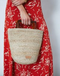 Jigsaw JUTE RESIN HANDLE BAG NATURAL | summer bags