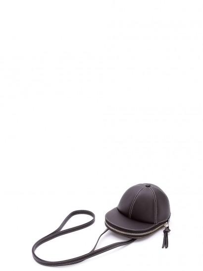 JW ANDERSON midi cap bag in black leather