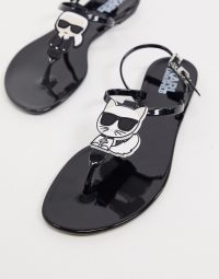 Karl Lagerfeld Iconic jelly sandals in black